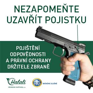 Halali - pojištění odpovědnosti a právní ochrany držitele zbraně